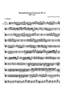 Brandenburg Concerto No.2 in F Major, BWV 1047: Viola ripieno part by Johann Sebastian Bach