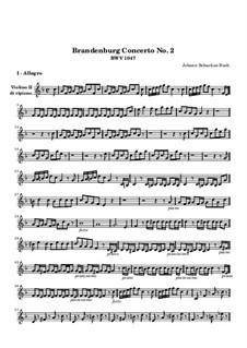 Brandenburg Concerto No.2 in F Major, BWV 1047: Violin II ripieno part by Johann Sebastian Bach