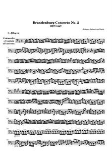 Brandenburg Concerto No.2 in F Major, BWV 1047: Cello part by Johann Sebastian Bach