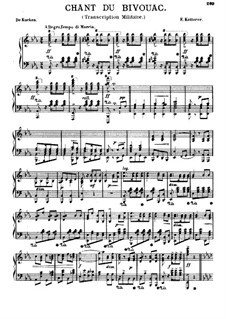 Le chant du bivouac (Camp Song): For piano by Friedrich Wilhelm Kücken