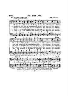 No, Not One: Lyrics and chords by George Crawford Hugg