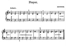 Prayer: For piano by Carl Reinecke