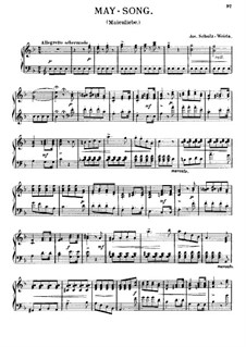 May Song for Piano: May Song for Piano by Joseph Schulz-Weida