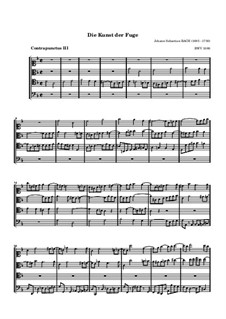 The Art of Fugue, BWV 1080: No.3 by Johann Sebastian Bach