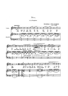Tre giorni son che Nina: For voice and piano by Giovanni Battista Pergolesi