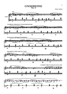 No.3: For piano (high quality sheet music) by Erik Satie