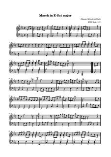 No.23 March in E Flat Major, BWV Anh.127: For keyboard by Johann Sebastian Bach