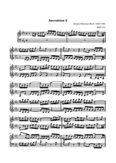 No.2 in C Minor, BWV 773: For keyboard (high quality sheet music) by Johann Sebastian Bach