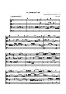 The Art of Fugue, BWV 1080: No.7 by Johann Sebastian Bach