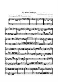 The Art of Fugue, BWV 1080: No.12 by Johann Sebastian Bach