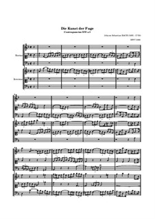 The Art of Fugue, BWV 1080: No.16 by Johann Sebastian Bach