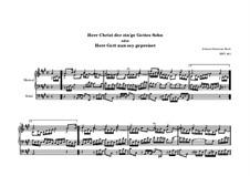 Herr Gott, nun sei gepreiset, BWV 601: Herr Gott, nun sei gepreiset by Johann Sebastian Bach