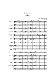 Overture: Score by Ludwig van Beethoven