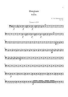 Overture: Timpani part by Ludwig van Beethoven