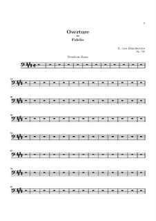 Overture: Trombone basso part by Ludwig van Beethoven