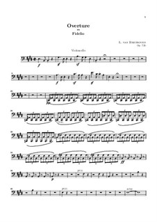 Overture: Cello part by Ludwig van Beethoven