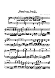 Sonata for Piano No.27, Op.90: Movement II by Ludwig van Beethoven