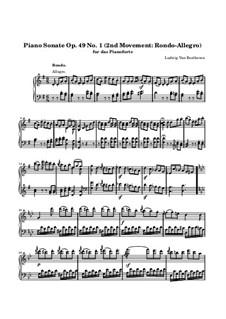 Sonata for Piano No.19, Op.49 No.1: Movement II by Ludwig van Beethoven