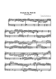 Prelude, WoO 55: For piano (high quality sheet music) by Ludwig van Beethoven