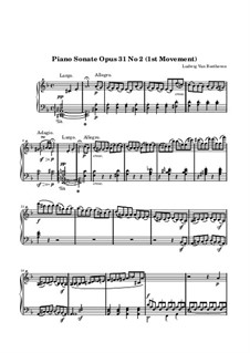 Sonata for Piano No.17 'Tempest', Op.31 No.2: Movement I by Ludwig van Beethoven