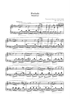 No.15 in D Flat Major: For piano (high quality sheet music) by Frédéric Chopin