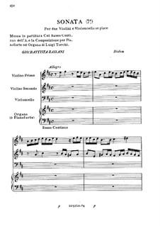 Sonata for Two Violins and Cello No.7: Sonata for Two Violins and Cello No.7 by Giovanni Battista Bassani