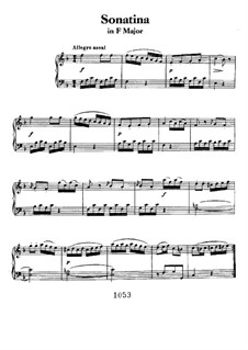 Sonatina in F Major: For piano by Ludwig van Beethoven