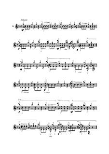 Twenty-Five Etudes for Guitar, Op.60: No.16 by Matteo Carcassi