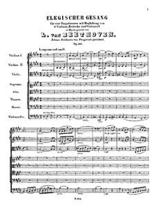 Song the Elegy, Op.118: Song the Elegy by Ludwig van Beethoven