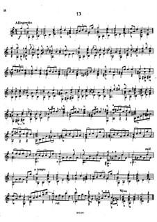 Twenty-Five Etudes, Op.38: Etude No.13 by Napoléon Coste