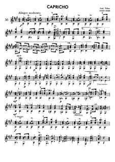 Capriccio for Guitar: Capriccio for Guitar by José Viñas