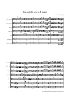 Six Concertos for Strings and Basso Continuo, Op.2: Concerto No.4 by Francesco Geminiani