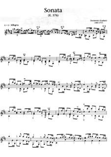 Sonata No.34 in B Minor, K.376 L.34 P.246: For guitar by Domenico Scarlatti