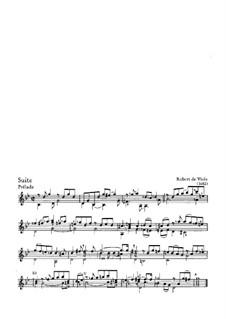 Suite for Guitar in G Minor: Suite for Guitar in G Minor by Robert de Visée