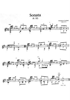 Sonata No.423 in D Minor, K.32 L.423 P.14: For guitar by Domenico Scarlatti