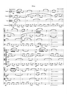 Aria in C Major: Version for string quartet by Pietro Locatelli