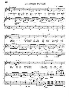 Good Night, Farewell: Good Night, Farewell by Friedrich Wilhelm Kücken