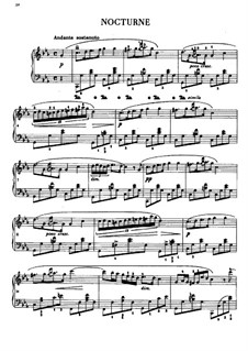 Nocturne in C Minor, B.108 KK IVb/8: For piano by Frédéric Chopin