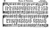 Hymn of Patriotism: Hymn of Patriotism by Thomas Hastings