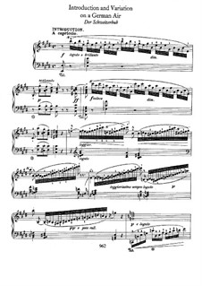 Introduction and Variation on the German Air 'Der Schweizerbub', B.14 KK IVa/4: For piano by Frédéric Chopin