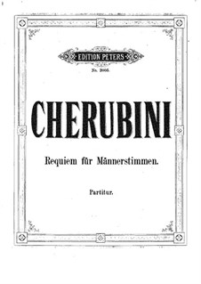 Requiem in D Minor: Requiem in D Minor by Luigi Cherubini
