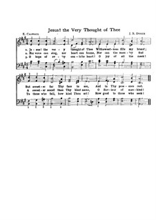 Jesus! The Very Thought of Thee: For choir by John Bacchus Dykes