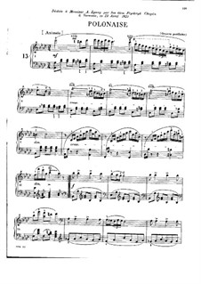 Polonaise in A Flat Major, B.5 KKIVa/2: For piano by Frédéric Chopin
