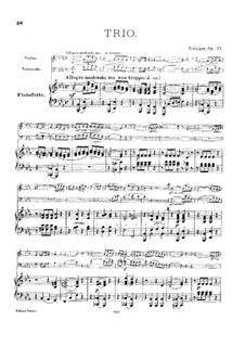 Piano Trio No.6, Op.77: Full score, parts by Carl Gottlieb Reissiger