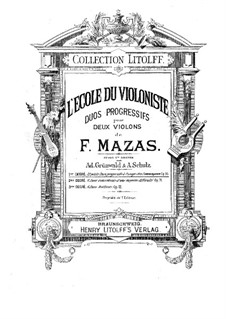 Twelve Progressive Duets for Two Violins, Op.70 No.1-6: Twelve Progressive Duets for Two Violins by Jacques Féréol Mazas