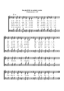 Au pied de ta sainte croix: Au pied de ta sainte croix by William Batchelder Bradbury