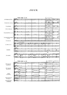 Jeux (Games), L.126: Full score by Claude Debussy