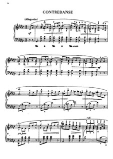 Contredanse in G Flat Major, B.17: For piano by Frédéric Chopin