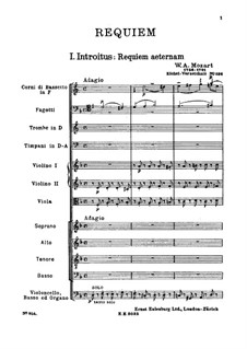 Complete Movements: Full score by Wolfgang Amadeus Mozart