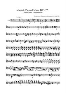 Masonic Funeral Music, K.477: Viola part by Wolfgang Amadeus Mozart